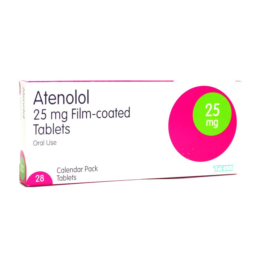 Atenolol 25mg tablets 28 pack