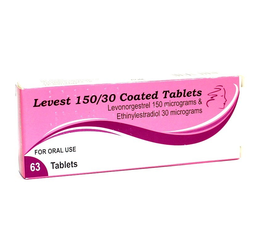 Levest (Levon) 150/30 Oral Contraceptive Tablets