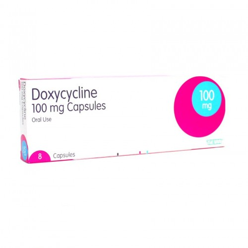 Doxycycline 100mg capsules 8 pack