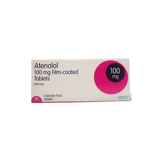 Atenolol 100mg tablets 28 pack
