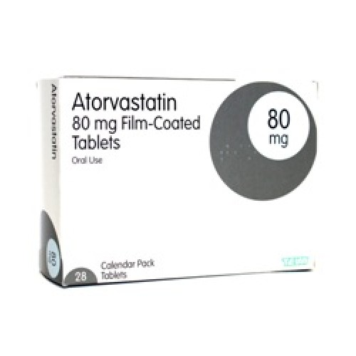 Atorvastatin 80mg tablets 28