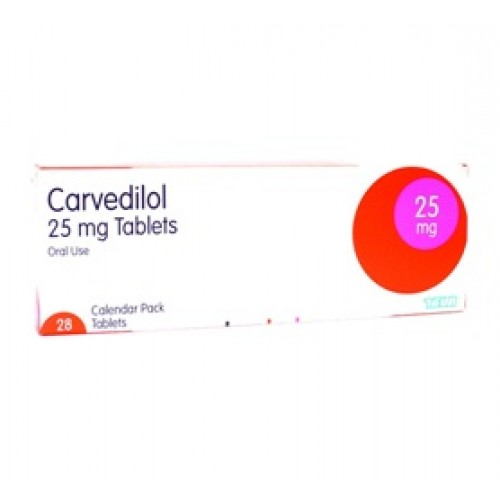 Carvedilol 25mg tablets 28 pack