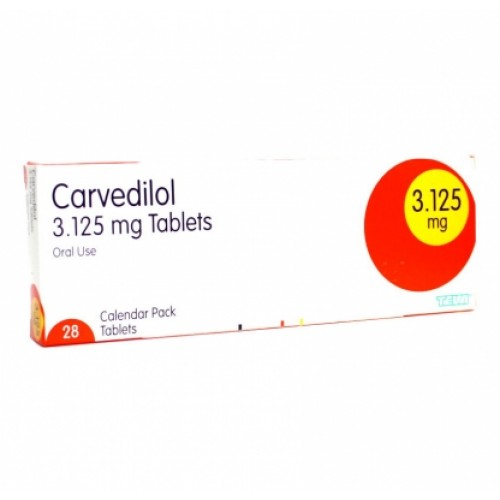 Carvedilol 3.125mg tablets 28 pack