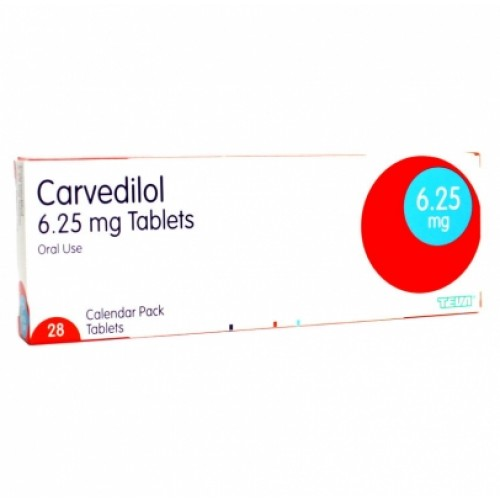 Carvedilol 6.25mg tablets 28 pack