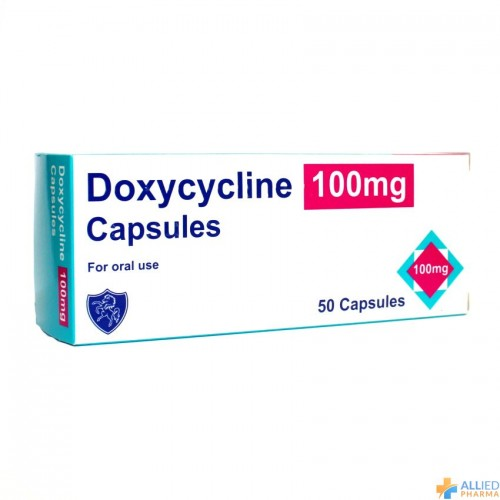 Doxycycline 100mg capsules 50 pack