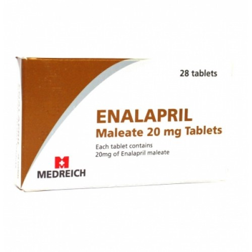 Enalapril 20mg tablets 28 pack